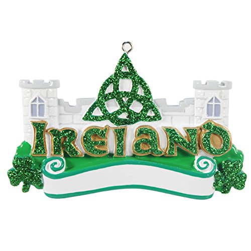 Ireland Christmas Ornament, Travel, Free Personalization, 100% Satisfaction Guarantee