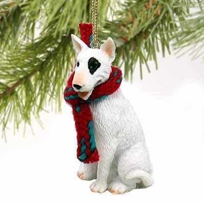 Bull Terrier Miniature Dog Ornament – White