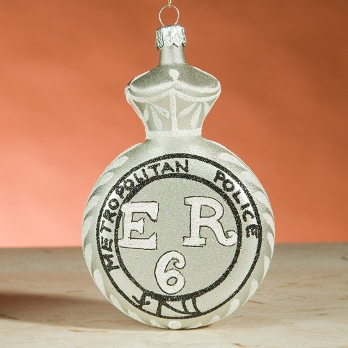 Sherlock Holmes Metropolitan Police Exclusive Limited Edition De Carlini Italian Glass Christmas Ornament