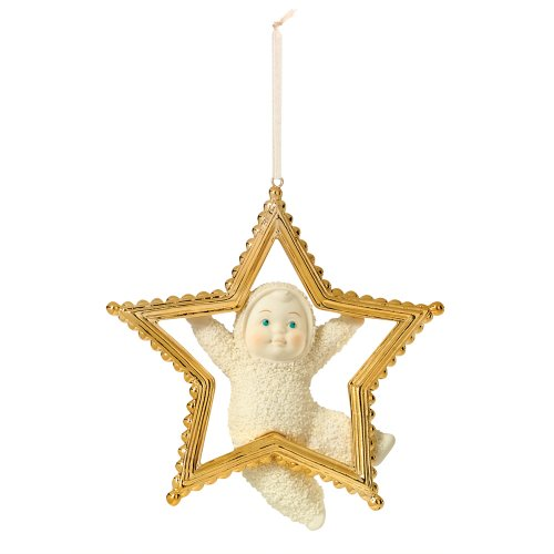 Department 56 Snowbabies Gold Star Ornament