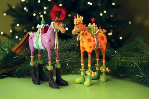 Patience Brewster Marcel & Maisy Horse Ornaments Set – 08-30766