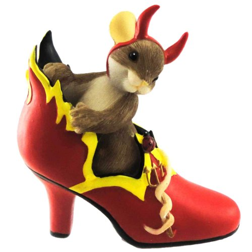Charming Tails You're The Fire In My Sole Halloween Devil Shoe Dean Griff – Resin 3.50 IN