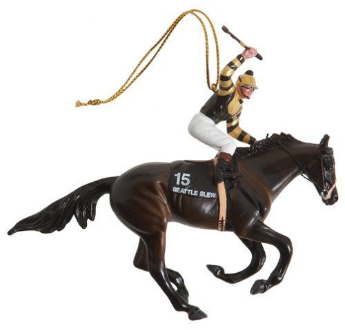 Breyer 2005 Seattle Slew Racehorse Ornament