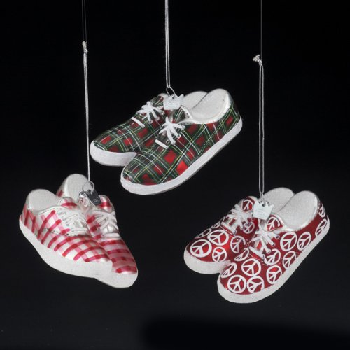 Kurt Adler 3.5″ Noble Gem Patterned Sneakers Ornament