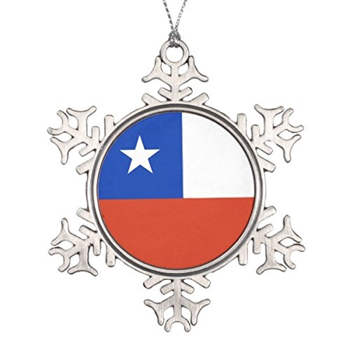 Follies Christmas Snowflake Ornament with Chile Flag