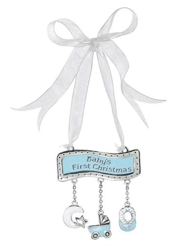 Ganz Baby's First Christmas Ornament – Blue Banner for Boy
