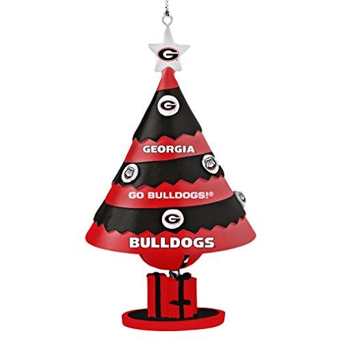NCAA Georgia Bulldogs Tree Bell Ornament, Black, 5″