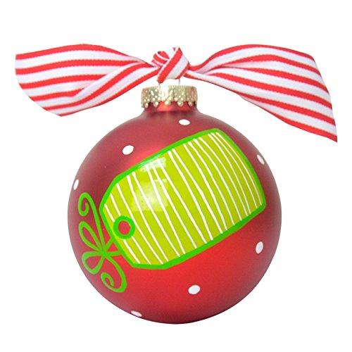 Christmas List Glass Ornament
