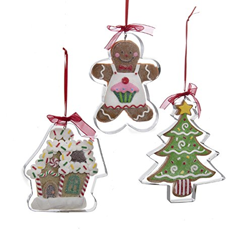 Kurt Adler Gingerbread Ornament Set