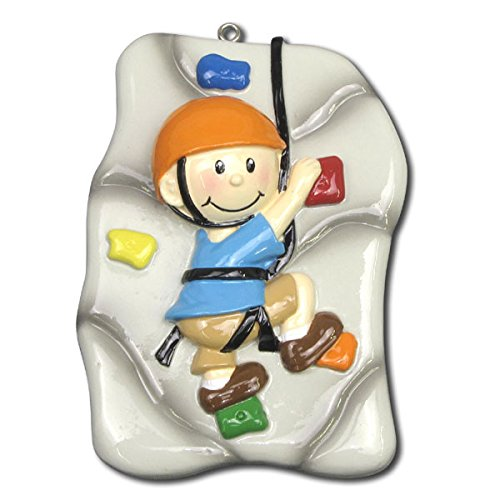 Rock Climber Personalized Christmas Tree Ornament