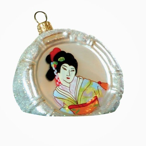 Ornaments To Remember Geisha (Gazing Eyes) Hand-Blown Glass Ornament