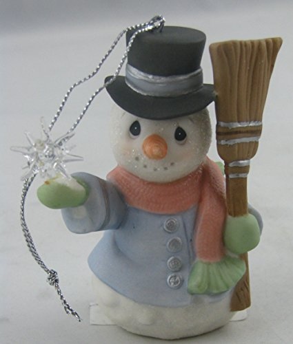 Precious Moments Inc. 151023 All Is Bright Snowman with Broom Ornament