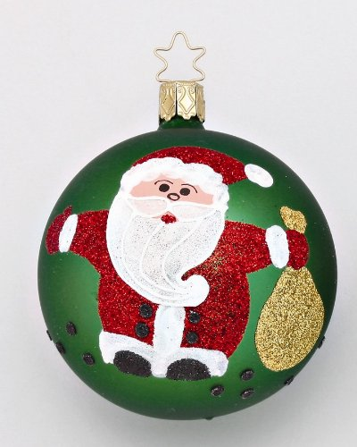 Inge-Glas Santa Claus Ball Christmas Ornament