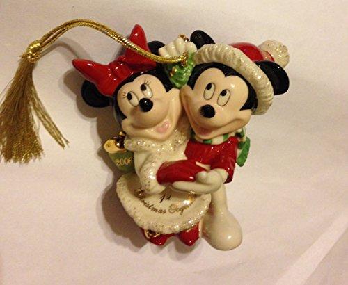 Disney Lenox 2006 Annual Minnie & Mickey 1st Christmas Together Ornament