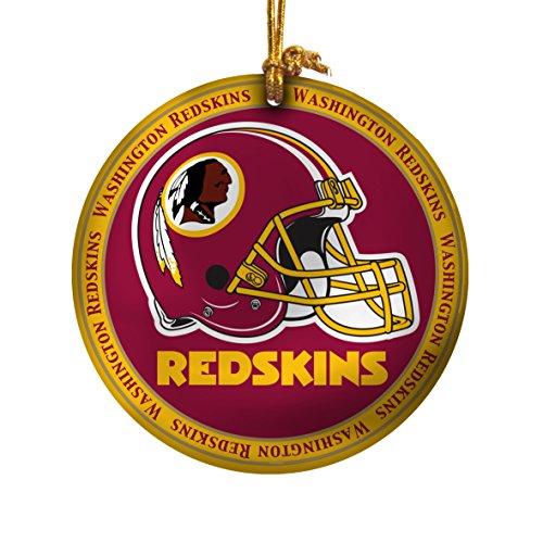 NFL Washington Redskins Ceramic Plate Ornament, Red, 2.25″