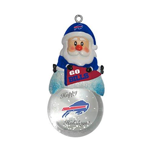NFL Buffalo Bills Snow Globe Ornament, Silver, 1.5″