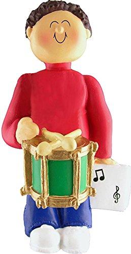 Music Treasures Co. Male Musician Drum Ornament (Brown Hair)