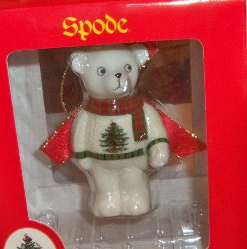 Spode Porcelain Teddy Bear Christmas Ornament–nib!