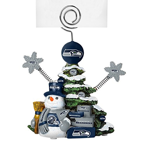 NFL Seattle Seahawks Tree Photo Holder, Green, 5″ Tall