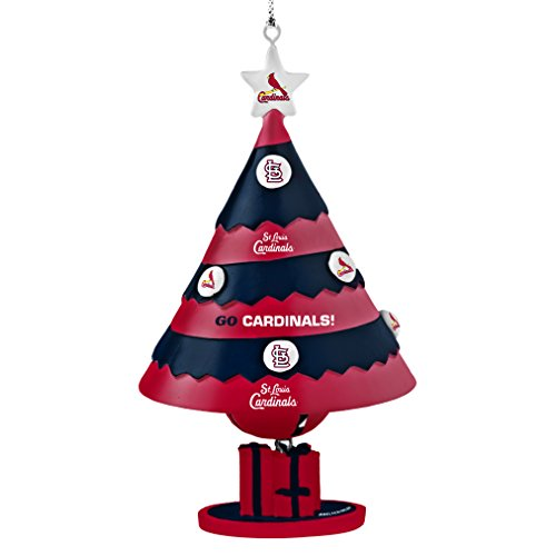 MLB St. Louis Cardinals Tree Bell Ornament, Red, 5″