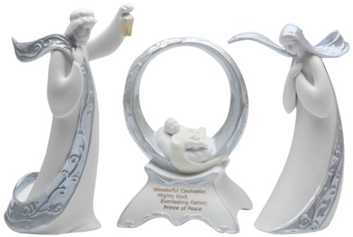 Appletree Design Joseph, Mary, Jesus Set of Three Musical, 7-1/4-Inch Tall, Plays Joy to the World