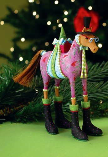 Patience Brewster Krinkles Marcel Horse Christmas Ornament