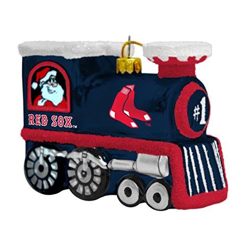 MLB Boston Red Sox Blown Glass Train Ornament