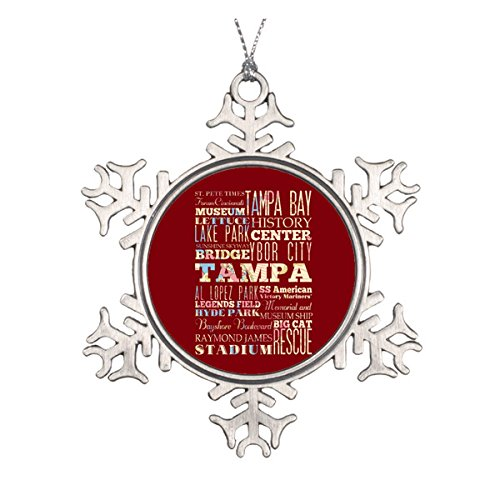 Attractions & Famous Places of Tampa, Florida. Ceramic Round Christmas Ornament