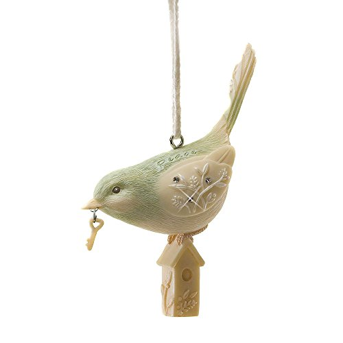 Enesco Foundations Peace Bird with Key and Home Ornament, 3.35-Inch