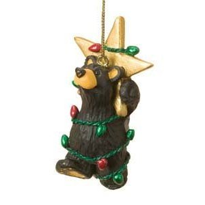 Bear in Star with Lights Ornaments