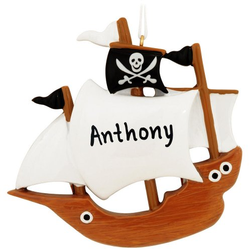 Pirate Ship Personalized Ornament