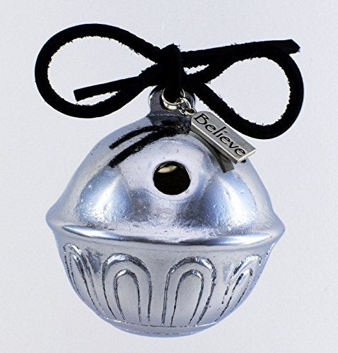 Giant Silver Christmas Polar Believe Sleigh Bell, Jingle Express From Santa's Sleigh Bells