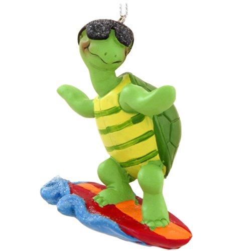 Surfer Turtle Ornament