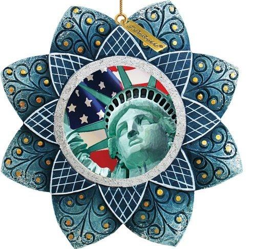G. Debrekht Statue of Liberty Scenic Ornament, 3.5″
