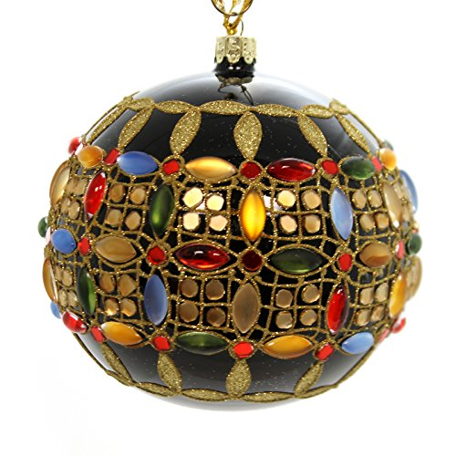 Christina's World BEJEWELLED GLOBE Glass Ornament Ball Gems Vet824