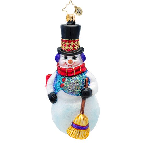 Christopher Radko – Snowflurry Sweeper – Heirloom Collectable Christmas Ornament