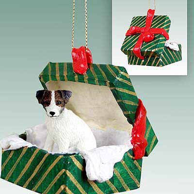 Jack Russell Christmas Ornament Hanging Gift Box