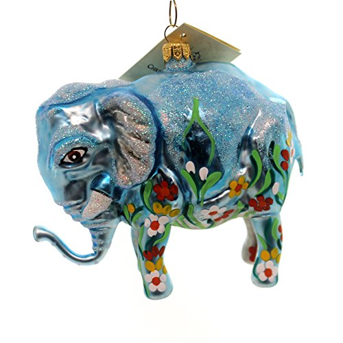 Christina's World GRAPHITI ELEPHANT Glass Africa Ornament Zoo864