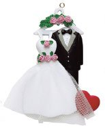 Personalized Wedding Gown & Tuxedo Ornament