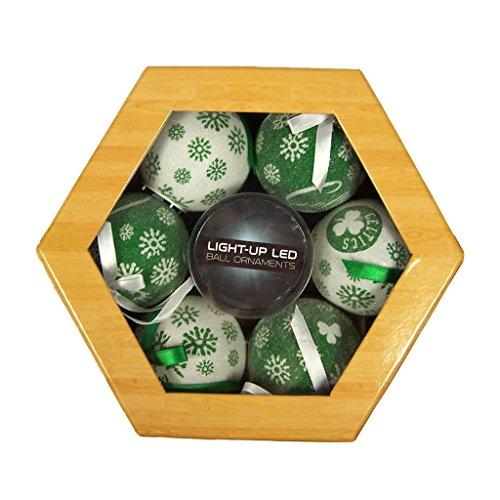 Boston Celtics LED Ornament Set