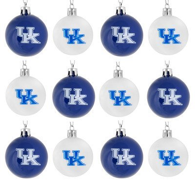 NCAA Ball Ornament (Set of 12) NCAA Team: Kentucky