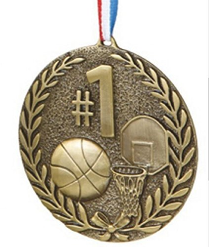 #1 Basketball Sports Medal Ornament