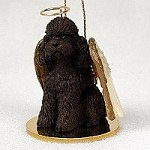 Poodle Chocolate w/Sport Cut Pet Angel Ornament