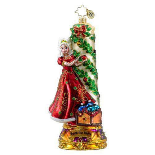 Christopher Radko DECK THE HALLS. Blown Glass Ornament Carols Candle