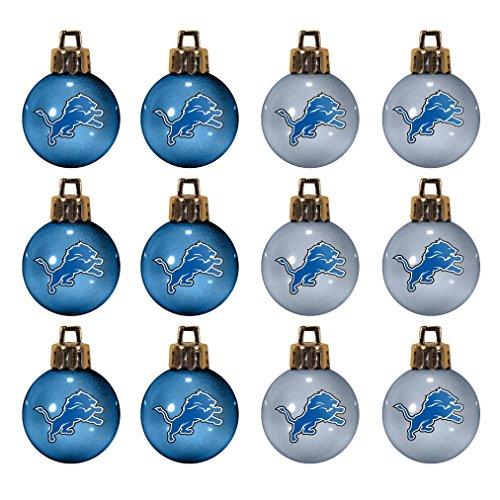 NFL Detroit Lions 12-Pack Mini Ball Ornaments made of Durable Plastic, Miniature, Blue