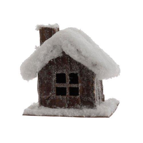 RAZ Imports – 4.5″ SNOWY CABIN ORNAMENT