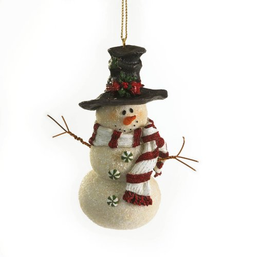Enesco Boyds Resin Candyland Snowman Ornament