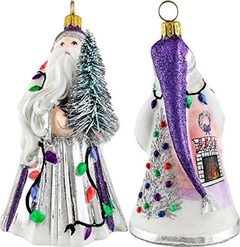 Glitterazzi 60″s Mod Santa Ornament by Joy to the World