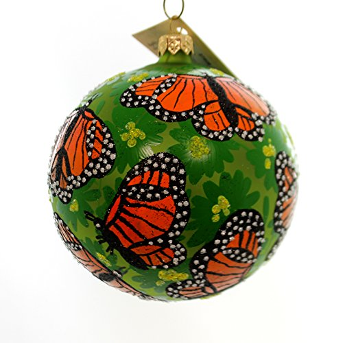 Christina's World MONARCH BUTTERFLY Glass Ball Ornament Spring But691