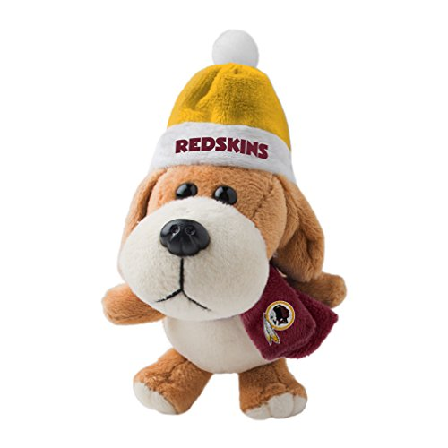 NFL Washington Redskins Plush Dog Ornament, 3″, Brown